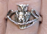 Sterling Owl Ring