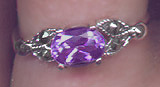 Isolde Amethyst and Marcasite Ring