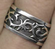 Sterling Tribal Thorns Ring