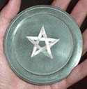 Soapstone Altar Pentacle with Mother=of-Pearl