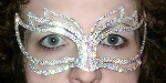 Ice Dragon Rhinestone Mask