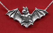 Sterling Pipistrelle Bat Necklace